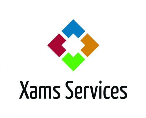 Xams Services logo stacked